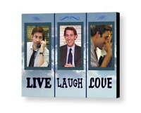 Framed Jim Halpert The Office TV Show Live Laugh Love Parody 8.5 X 11 Print