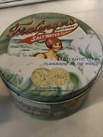 VINTAGE FRALINGER'S SALT WATER TAFFY TIN ATLANTIC CITY CHEINCO CANDY CONTAINER