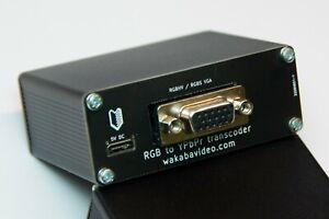 RGB VGA to YPbPr Component transcoder/converter