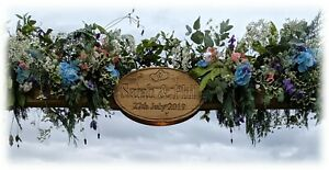 Wedding Sign / Plaque Oak & Pine Carved Custom Engraved Wooden Sign