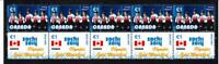 2014 SOCHI OLYMPIC GOLD STRIP OF 10 MINT STAMPS, CANADA WOMENS CURLING TEAM