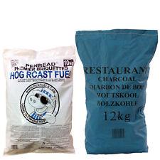 10kg BBQ Barbecue Charcoal Briquettes Plus 12kg Restaurant Grade Charcoal