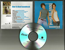 MANDY MOORE How to Deal ADVNCE PROMO CD w/ FLAMING LIPS John Mayer BETH ORTON