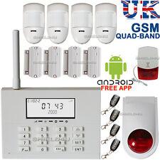 WIRELESS LCD SECURITY DUAL GSM SIM / PSTN AUTODIAL HOUSE BURGLAR INTRUDER ALARM
