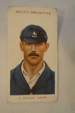 1908 Vintage Wills Cricket Card - A. Fielder - Kent.