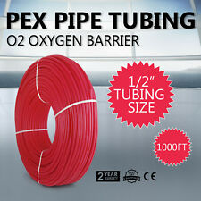 "1/2"" x 1000ft Pex Tubing Oxygen Barrier O2 EVOH Red 1,000 ft Radiant Floor Heat"