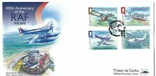 TRISTAN DA CUNHA 2018 AIRCRAFT CENTENARY SET 4 FIRST DAY COVER