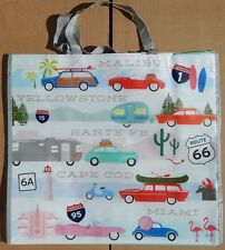 REUSABLE SHOPPING TRAVEL TOTE BAG CARS ECO FRIENDLY HOMEGOODS NEW