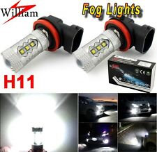 H11 HID White 80W High Power LED Fog Light Driving For BMW 5 Series E39 530i