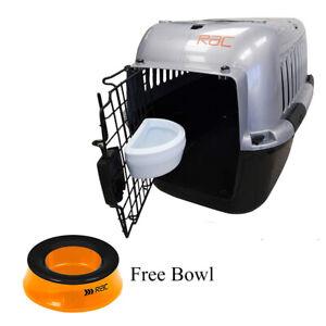 RAC Pet Plastic Dog Portable Transport Travel Carrier Medium FREE NON SLIP BOWL