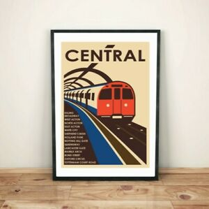 London Underground Central Line (Ealing) A3 art print poster