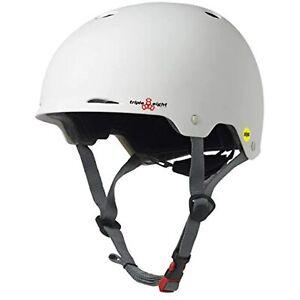 Triple Eight Gotham Dual Certified MIPS Skateboard & Bike Helmet, White, L/XL
