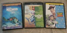 Disney's Finding Nemo, A Bug's Life & Toy Story Blu-Ray + Dvd Movie Lot