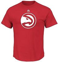 Atlanta Hawks Majestic Mens Logo II Short Sleeve Crew Neck TShirt Tee Red