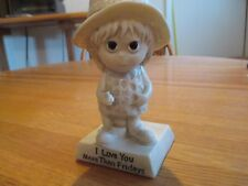 Vintage 1970 Russ Berrie I LOVE YOU MORE THAN FRIDAYS Statue Figurine R&W Berrie