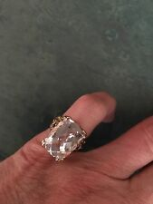 "Gems en Vogue Michael Valitutti 11.60ctw White Quartz & Ruby ""Mini Cento"" Ring-5"