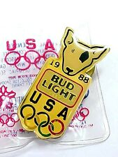 Awesome 1988 Olympic Souvenir Pin BUD LIGHT SPUDS Mackenzie