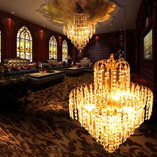 Style Européen Lumières Lustre Cristal In Shape Couronne Luxe Verre Plafonnier