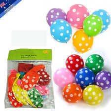 30cm Polka Dot Balloons Party Birthday Wedding Decoration Mix Colour Red Yellow