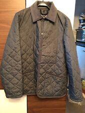 Lavenham Raydon Quilted Jacket Gray Denim L 40