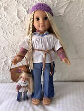 """JULIE - American Girl 18"""" doll (Pleasant Company) and its smaller version"""