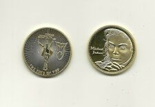 RARE / MEDAILLE - MICHAEL JACKSON / COULEUR OR DOREE COLOUR GOLD MEDAL -LIKE NEW