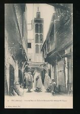 Morocco FEZ FES Grande Rue du Talaa Mosque Sidi Ahmed-El-Tijani c1900/20s? PPC