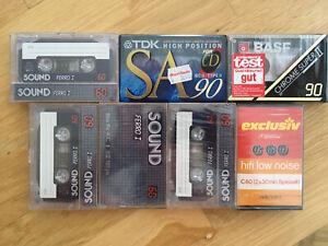 7 Audiokassette Leerkassette: 1 TDK, 1 BASF, 1 EXCLUSIV, 4 SOUND NEU & OVP