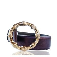 GUCCI TOM FORD BAMBOO LEATHER BELT