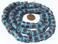 Ghana African Matched Fine Blue Recycled glass trade beads