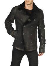 Diesel LAGUA Lambskin Leather Shearling Jacket Large RRP£1300 coat sheepskin