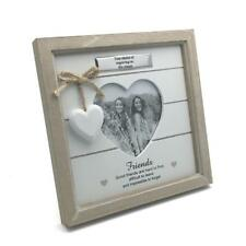 Personalised Vintage Shabby Chic Friends Photo Frame Gift With Heart 46211-P