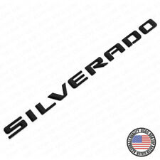 19-21 Matte Black Silverado 1500 Tailgate Letter Logo Emblem Badge Z71 LT LTZ