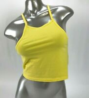 Divided H&M Yellow Cropped Tank Top Womens Size Small