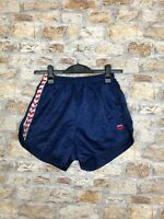MENS VINTAGE RETRO DARK BLUE SPRINTER OLD SCHOOL HIGH CUT SHORTS MEDIUM (100)