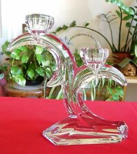 Clear Cut Crystal Two 2 Light Taper Candlestick #DSG1 by Duiske Glass Ireland
