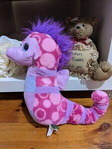 Wild Republic Seahorse Pink/Purple W Glitter Plush Toy 32cm Sea Creatures