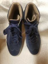 PUMA ECO ORTHOLITE Mens Wingtip Hi-Top Blue Suede Leather 9.5 3ddcb4c6c