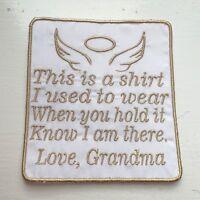 """keepsake New Grandma Ceramic Widdle Ones Pin Badge /""""Proud Grandma/"""" gift"""