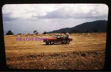35mm Red Border Slide Photo 1958 - Vintage Sports Car VW Karmann Ghia -  Desert