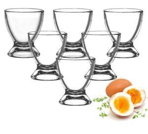 Eierbecher aus Glas Eierständer Eierhalter Glaseierbecher 6-12-tlg.