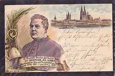 Köln-Trauerkarte Dr.Hermann Jos. Schmitz, Weihbischof-Farblithographie-gebraucht