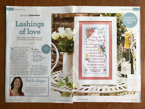 Wedding / Marriage Cross Stitch Sampler Chart **from a magazine**