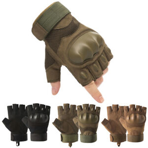 Tactical Hunting Gloves Rubber Hard Knuckle Military Special Forces Police Gear