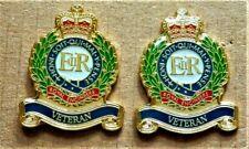 2X MILITARY / ARMY ENAMEL PIN BADGE ROYAL ENGINEERS VETERAN BRITISH ARMY POPPIES