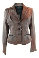 SCERVINO STREET Ermanno Scervino Brown Fitted Jacket (US 8)