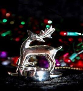 Reindeer Tealight Holder Aluminium Petti Rossi 17 x 13 x 6cm