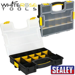 Sealey Tool Box Organiser Stackable Storage Case Parts Tray Fixings Toolbox