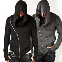 Men's Long Sleeve Hooded Casual Jacket Zipper Hoodie Coat Sweatshirt Slim Tops