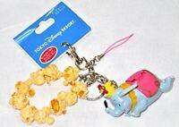 Disney Dumbo popcorn key chain strap mobile phone strap figure Tokyo Disney Reso